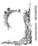 antique frame engraving ...   Shutterstock .eps vector #48146050