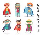 superhero kids boys and girls.... | Shutterstock .eps vector #481462945