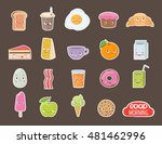 different emotions stickers... | Shutterstock .eps vector #481462996