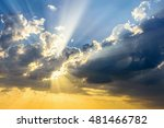 sun beams breaking through the... | Shutterstock . vector #481466782