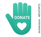 vector donate concept hand and... | Shutterstock .eps vector #481470472