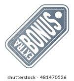 super and extra bonus banner... | Shutterstock .eps vector #481470526