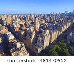 aerial photo manhattan central... | Shutterstock . vector #481470952