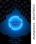 halloween party flyer. vector...   Shutterstock .eps vector #481474012