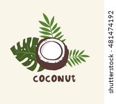 print with coconuts and... | Shutterstock .eps vector #481474192