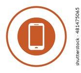 smartphone  icon vector. flat... | Shutterstock .eps vector #481475065