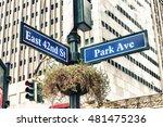 park avenue street sign new... | Shutterstock . vector #481475236