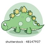 cartoon dinosaur | Shutterstock .eps vector #48147937