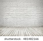 room interior with white brick... | Shutterstock . vector #481482166