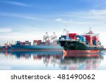 international container cargo... | Shutterstock . vector #481490062