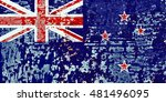 the new zealand flag painted on ... | Shutterstock . vector #481496095