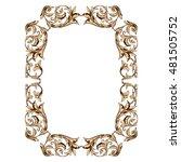 frame  frame border  vintage... | Shutterstock .eps vector #481505752