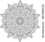 vector outline mandala... | Shutterstock .eps vector #481508122