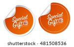 special gift stickers | Shutterstock .eps vector #481508536