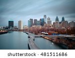philadelphia skyline with urban ... | Shutterstock . vector #481511686