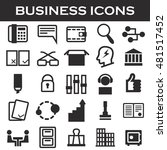 office and business icon set | Shutterstock .eps vector #481517452