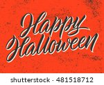 happy halloween greeting card ... | Shutterstock .eps vector #481518712