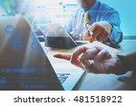 medical technology network team ... | Shutterstock . vector #481518922