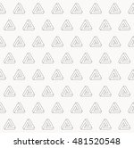 illusion triangle pattern ... | Shutterstock .eps vector #481520548