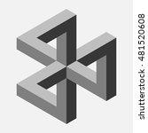 illusion triangle composition ... | Shutterstock .eps vector #481520608