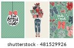 collection of trendy fashion... | Shutterstock .eps vector #481529926