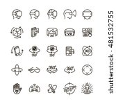 set of virtual reality icons... | Shutterstock .eps vector #481532755
