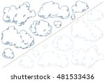 stock illustration. vector set... | Shutterstock .eps vector #481533436
