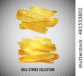 gold watercolor texture paint... | Shutterstock .eps vector #481533802