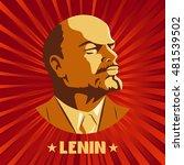 Portrait Of Vladimir Lenin....
