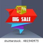 sale vector banner in paper... | Shutterstock .eps vector #481540975