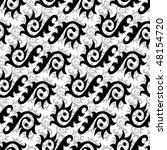 seamless black and white... | Shutterstock .eps vector #48154720