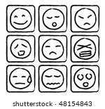 emoticons set | Shutterstock .eps vector #48154843