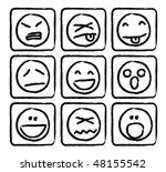 emoticons set | Shutterstock .eps vector #48155542