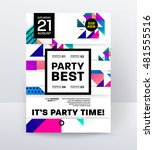disco party poster template... | Shutterstock .eps vector #481555516