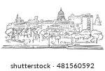havana cuba panorama outline...   Shutterstock .eps vector #481560592