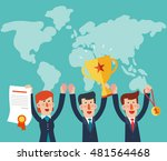 successful  smiling  young ... | Shutterstock .eps vector #481564468