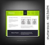 web site design template ... | Shutterstock .eps vector #48156694
