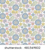 cute floral pattern in the... | Shutterstock .eps vector #481569832