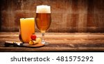 yellow cheese appetizer and... | Shutterstock . vector #481575292