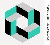 logo design element  isometric...   Shutterstock .eps vector #481575352