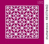 abstract cutout panel for laser ... | Shutterstock .eps vector #481576462