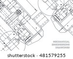 mechanical engineering drawing. ... | Shutterstock .eps vector #481579255