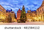 stortorget square decorated to... | Shutterstock . vector #481584112