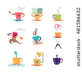 coffe and tea cup color icon... | Shutterstock . vector #481586632