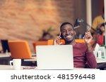 african american businessman on ...   Shutterstock . vector #481596448
