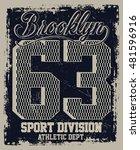 brooklyn sport  athletic dept.... | Shutterstock .eps vector #481596916