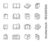 books thin line icons vector.... | Shutterstock .eps vector #481600366