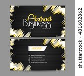 creative vector business card... | Shutterstock .eps vector #481602862