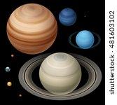 the solar system. jupiter ... | Shutterstock .eps vector #481603102
