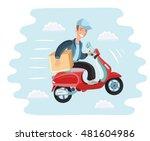 vector cartoon illustration of... | Shutterstock .eps vector #481604986
